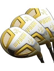 Japon Epron TR Doré hybride Club de golf bois Set + Housse cuir (18,21,24degré Loft, Regular Flex, Lot de 3)