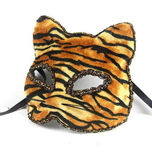 wsjwj Masken für Erwachsene Venezianische Maske Weihnachten Halloween Maske Katze Gesicht gemalt Maske, Tiger Spielzeug