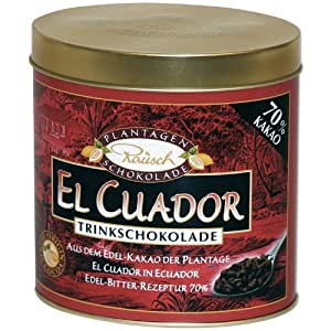 Rausch Trinkschokolade El Cuador Edel-Bitter, 250 g, Kakao: 70 %, 1er Pack (1 x 250 g)