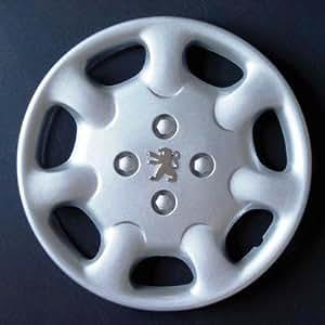 Jeu de 4 Enjoliveurs Neuf Pour Peugeot 306 / 206 / 406 / 806 / Ranch / Bipper Avec Roues Originales En 15 Pouces