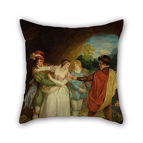 Tony Romo Jersey (45,7x 45,7cm/45von 45cm Ölgemälde Design Francis Wheatley–Valentine Rettung Silvia von Proteus, von Shakespeare 's
