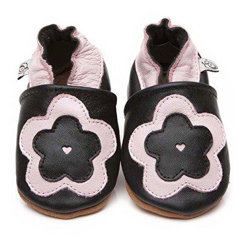 Morbida cuoio bambino calzature grande fiore 12-18 mese
