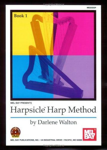 Walton Darlene Harpsicle Harp Method Book 1 Harp Book/DVD