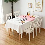 CHAIZIYU Tablecloth Home Nordic thick cotton linen art tablecloth waterproof and oilproof anti-hot table tablecloth,F,140 * 140CM