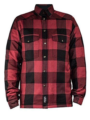 John Doe Motorradschutzjacke, Motorradjacke Lumberjack Motoshirt Jacke rot XXL, Herren, Chopper/Cruiser, Ganzjährig, Baumwolle