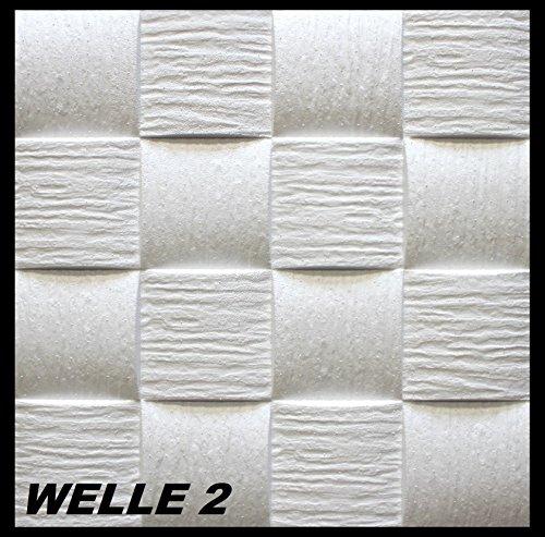 10 m2 Pannelli per soffitto Pannelli di polistirolo Stucco Copertura Decorazione pannelli 50x50cm, WELLE 2