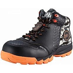 DDTX Botas de Seguridad Hombre (Puntera Composite, Entresuela de Kevlar, Antiestáticos, S1P) Zapatos de Seguridad Trabajo Comodas Transpirables Negro Talla 44