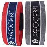 Premium Armband EGOCENT Design Schwarz/Grau / Weiss Damen Herren Unisex M 19cm