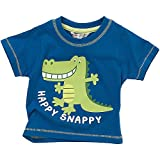 Animal Crazy Happy Snappy Crocodile Boys Short Sleeved T-Shirt