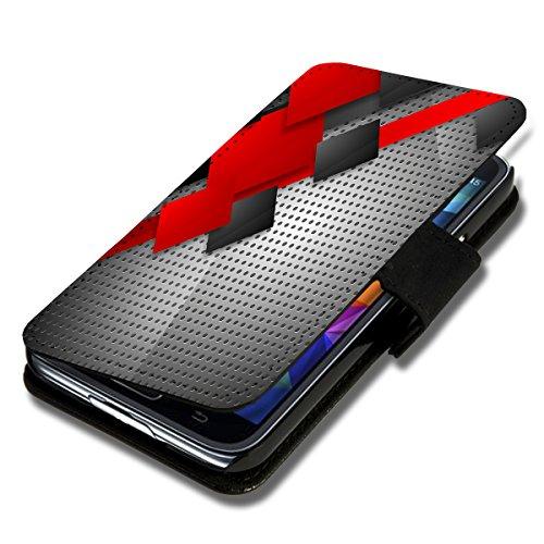 Book Style Flip Handy Tasche Case Schutz Hülle Schale Motiv Foto Etui für Apple iPhone 6 Plus - 5,5 Zoll - X3 Design1 Design 9