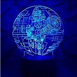 Fushoulu 3D Led Lampe Night Light Lampe Kinder Birne Weihnachtsgeschenk Cartoon Rc Spielzeug 7 Colro Change