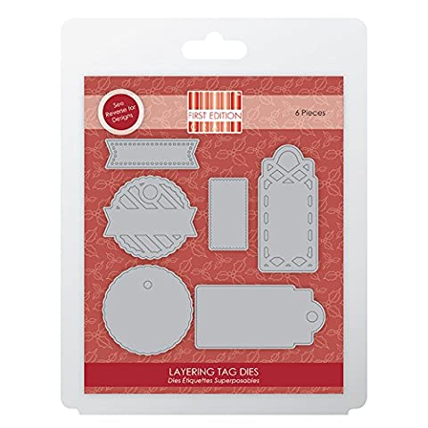First Edition Christmas Deco Mache Decopage Papers - Layering Tag Dies (3 Sheets (FSC)