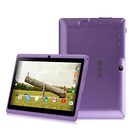 iRULU eXpro 3 Tablet (X3),Google Android 6.0,Quad Core,HD 1024x600,Dual Kamera WiFi 8GB 3D Spiel unterstützt,7 Zoll Tablet mit GMS Certified (Violett 8GB)