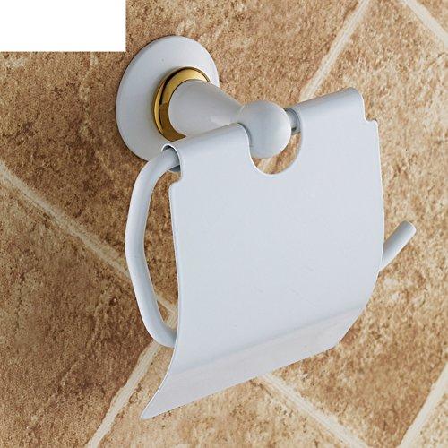 Gold-Toilettenpapierhalter weißer Farbe gegrillt/Continental Toilettenpapierhalter/Handschale/wasserdicht