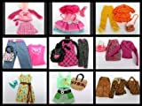 Satz Von Große Volle Outfits Hose 3 QualitätMade for Barbie Puppen Kleider Rock Taschen Etc. Puppe...