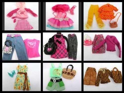 e Outfits Hose 3 Qualität Barbie Sindy Puppen Kleider Rock Taschen Etc. Puppe Nicht Enthalten Von London Mit Dem Fett Catz Veröffentlicht (Fett Outfit)