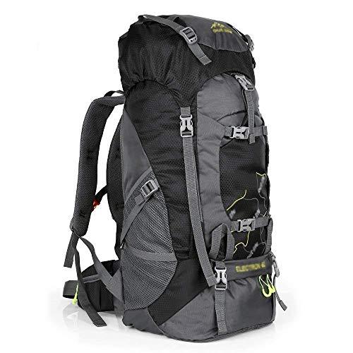 Zaino da Viaggio Leggero Compattabile Zaino da 60L Viaggio Trekking Giorno Pack per Uomo Donna, Zaino Pieghevole Ultraleggero per Campeggio Aria Aperta,Black