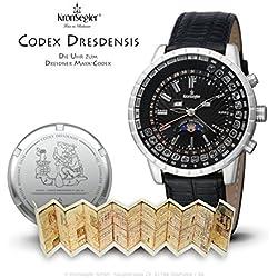 "Kronsegler ""Codex Dresdensis"" Maya Calendar Watch steel - black"