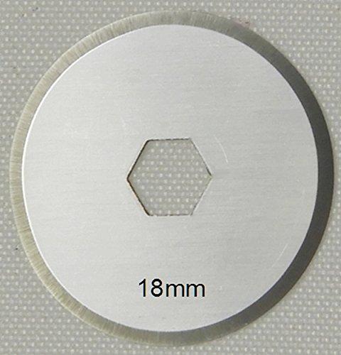 Ersatzklingen 10x Klingen 18mm Marke Patchwork-Pro, Japanischer Klingen-Stahl für Rollschneider Rollmesser Rotary Blade Patchwork Quilt