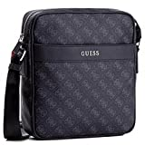 GUESS UPTOWN LOGO TOP ZIP CROSSBODY HM6213 POL74 BLA
