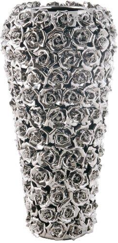 Kare 65663 Petit vase Chromé/motifs de rose