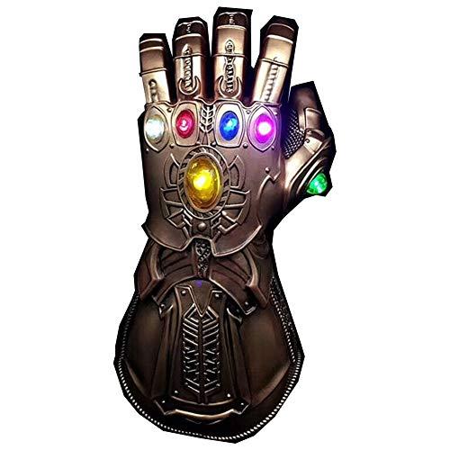 GEGEQ® Avengers Handschuhe Edelsteine Bunte Lichter Kinderspielzeug Handschuhe Anime herum (1)