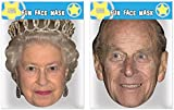 The Queen & Prince Philip - Twin Pack - Celebrity Face Masks