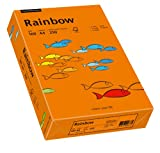 Schneidersöhne 88042461 - Multifunktionspapier Rainbow Coloured Paper A4 160 g/qm, 250 Blatt, intensivorange