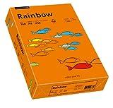 Schneidersöhne 88042461 - Multifunktionspapier Rainbow Coloured Paper A4 160 g/qm, 250 Blatt, intensivorange