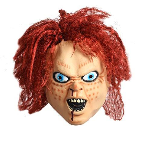 DaoRier Horror Maske,Rothaarige Geist -Maske, für Fasching Karneval Halloween Kostüm Erwachsene,Unisex Einheitsgröße (Kostüm Für Rothaarige)
