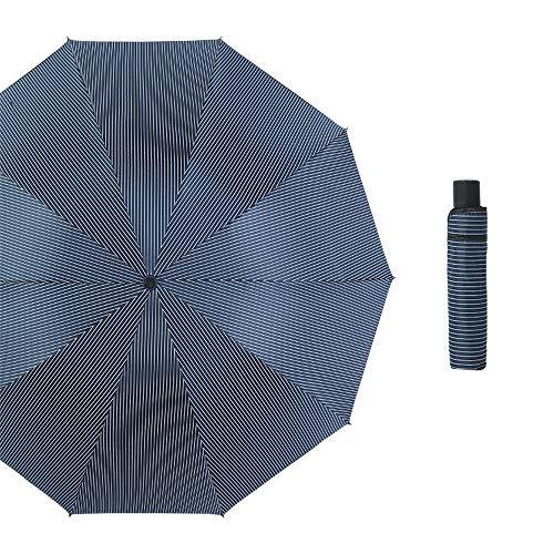 LYJZH Reiseregenschirm - Kompakter windfester Regenschirm - sehr leichtes und faltbares Design Regenschirm faltbar dreifach Regenschirm zehn Knochen schwarz Plastikfarbe2 110cm