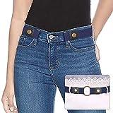 SUOSDEY Elastischer Gürtel Damen Stretchgürtel Unsichtbarer Gürtel Ohne Schnalle Für Jeans Hosen Taillen Gürtel Damen keine Schnalle