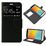 PHONELAND Funda Flip Cover LG X150 (L Bello II) Liso Negro