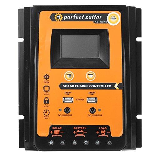 24 Volt 30 Amp (lovinn Intelligente 30Amp USB PWM Solar Akku aufladen Controller)