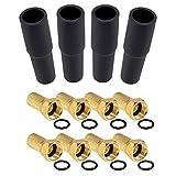 4x Gummitüllen und 8x F-Steckern - HB Digital SAT Zubehör Set