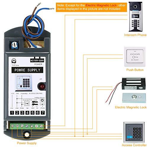 51z0nPbt9ZL - KKmoon 60KG / 132lb Cerradura Eléctrica de Perno NC 12V para Sistema de Control Acceso Entrada de Puerta