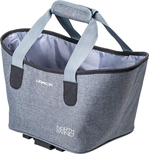 NorthWind i-Rack 2 Korb Shopper Bag Gepäckträger carrymore 15 l grau