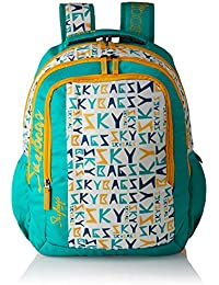 Skybags Polyester 30 Ltrs Green Casual Backpack (BPHELFS5TEL)
