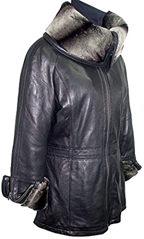 Paccilo Womens 5008 Real Lambskin Leather Car