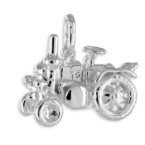 Traktor Anhänger aus echt 925 Silber