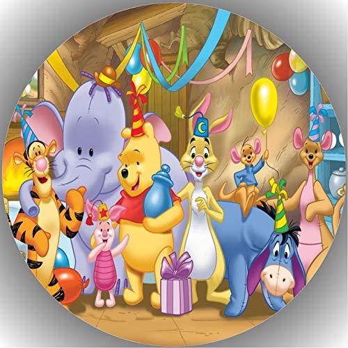 Fondant Tortenaufleger Tortenbild Geburtstag Winnie Pooh T16