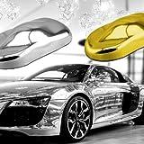 Chrom 3D Flex Folie Silber BLASENFREI 0,3m x 1,52m mit Luftkanäle