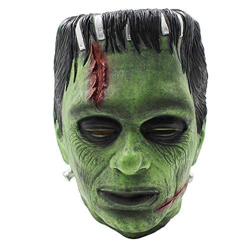 TOMMY LAMBERT Halloween Dekoration Frankenstein Maske Latex Scary Halloween Party Masken Kostüm Cosplay Requisiten Neu Halloween Party - Scary Frankenstein Kostüm
