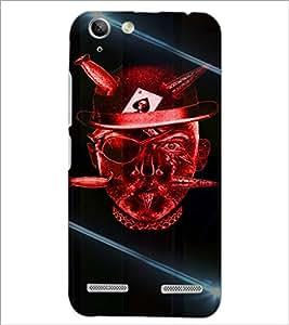 PrintDhaba Devil Skull D-5855 Back Case Cover for LENOVO VIBE K5 (Multi-Coloured)