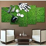Ganjue Imágenes Modulares Wall Art Hd Prints 5 Piezas Lienzo Pelota De Golf Pintura Deporte Decoración Para El Hogar Sala De Estar Fondo Ilustraciones Cartel E10062