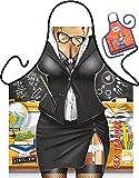 Lehrerin Motiv Kochschürze sexy Lehrerin Uniform Kostüm Schürze : Teacher mit Urkunde -- Themenschürze mit Minischürze für Flaschen