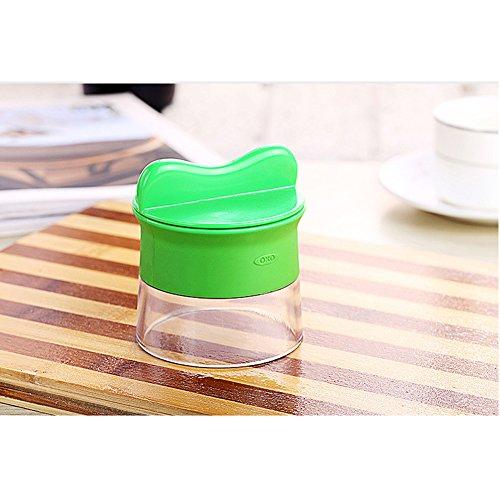 Mini Küchenmaschine Premium Klein Spiralschneider Hand für Gemüsespaghetti Kartoffel BÜNDEL Kochbuch mit die Bürste für die Reinigung-Zucchini,Gurkenschneider,Gurkenschäler,Möhrenreibe,Möhrenschäler,Gemüsehobel Grün - 6