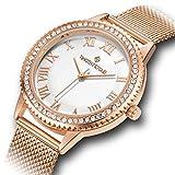 Timothy Stone Damen Rose Gold Swarovski Kristalle Mesh 'Parker' Damen Armbanduhr