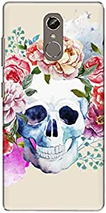 The Racoon Grip Pale Watercolor Skull hard plastic printed back case/cover for Gionee S6S