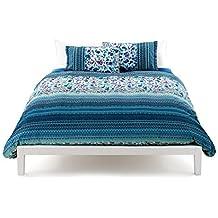 Bassetti Granfoulard.- Conjunto de funda nordica Sangallo V3 azul para cama de 180 cm (4 piezas)